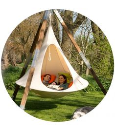Cacoon is the new hangout chillout space, the new hanging chair, the new concept for relaxation and simple fun. It's your swing chair; your hammock; your hanging garden seat; it's whatever you want it to be, inside or out.