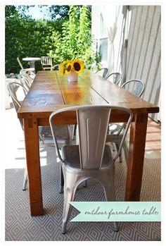 Our Back Patio: DIY outdoor farmhouse table