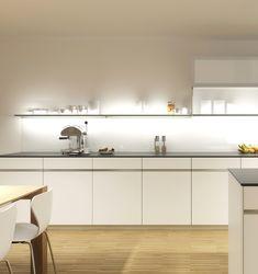 GroBartig Ideen Küche Ohne Hängeschränke Und Intelligente Perfekt Wunderbar  Oberschränke Weisse Kueche White Kuchen