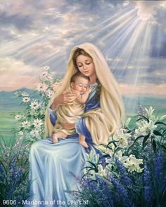 Madonna of the Lilies by Dona Gelsinger ~ Religious