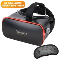 a542d9bba7d Amazon.com  Pansonite 3D VR Glasses Virtual Reality Headset with Remote  Controller for VR Games   3D Movies