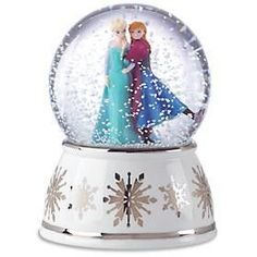 LENOX ELSA AND ANNA MUSICAL SNOWGLOBE. Would be cute for my niece rye