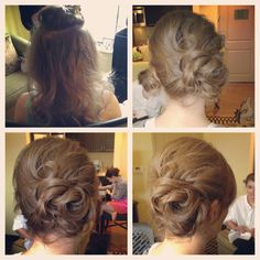 Short hair side messy updo