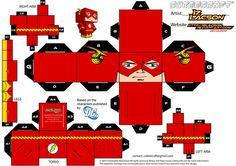 The Flash Cubeecraft http://izlacson.deviantart.com/art/004-B-Allen-Flash-Template-189675844