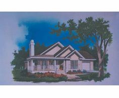 Eplans Country House Plan - Narrow Lot Bungalow - 1338 Square Feet and 3 Bedrooms from Eplans - House Plan Code HWEPL07194