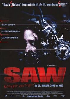 Watch->> Saw 2004 Full - Movie Online Scary Movies, Horror Movies, Horror Villains, Jigsaw Saw, Gold Movie, The Image Movie, Movies And Series, Famous Movies, Famous Movie Posters