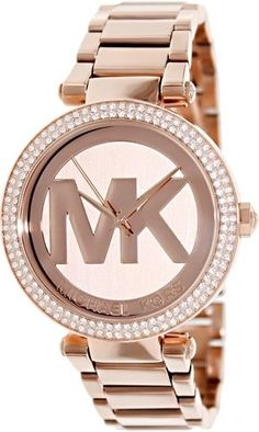 Michael Kors Women's Parker MK5865 Rose-Gold Stainless-Steel Quartz Watch #MichaelKors #FashionWatches