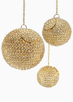 DIY crystal ball chandeliers!