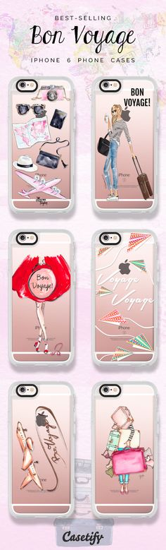 All time favourite iPhone 6 Bon Voyage collection protective phone case designs | Click through to see more iphone phone case ideas >>>https://www.casetify.com/collections/bon_voyage#/ #travel | @casetify