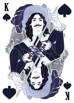 The Three Musketeers character D'Artagnan depicted as the King of Spades by karinyan