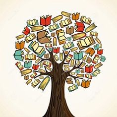 Clipart of Education concept tree with books - Search Clip Art, Illustration Murals, Drawings and Vector EPS Graphics Images - Clipart, I Love Books, Good Books, Books To Read, Ya Books, Shel Silverstein Books, Summer Bulletin Boards, Owl Logo, Book Tree