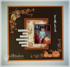 Crafting The Web: Fall Scrapbook Page