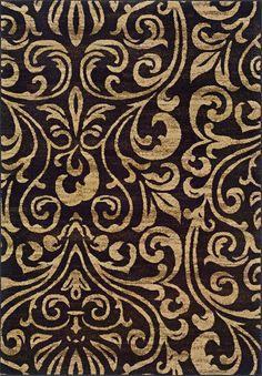 Lyonsdale Black/Gold Area Rug