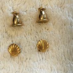 Teeny-tiny seashell Monet earrings Teeny-tiny seashell Monet earrings Jewelry Earrings