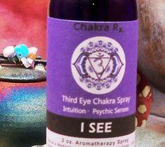 THIRD EYE CHAKRA Spray I See 3rd Eye 6th Indigo by ScentualGoddess