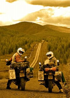 Charley Boorman and Ewan McGregor - The Long Way Round. I want to do this!