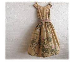 birds & blossom  a tea dress made to measure by sohomode on Etsy