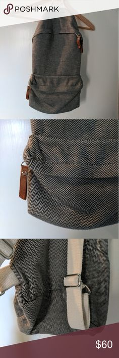 Brandy Melville Grey Chevron Backpack Only worn a couple times to school. Not the mini. Not sure if I want to sell yet, but I would like to trade :) will sell cheaper elsewhere. Hmu Brandy Melville Bags Backpacks