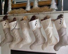 For Leeann - Set of 4 Sublime Christmas Stockings PLUS a tree skirt. $203.00, via Etsy.