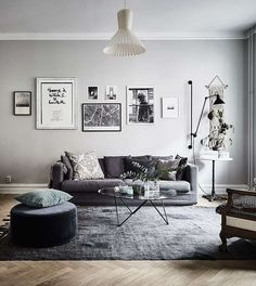 Find your favorite Minimalist living room photos here. Browse through images of inspiring Minimalist living room ideas to create your perfect home. Grey Walls Living Room, My Living Room, Living Room Interior, Home And Living, Living Room Decor, Living Spaces, Modern Living, Decor Room, Home Decor