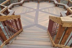"""Bob from Red Oak, TX """"This is a split level deck. We are designing an outdoor kitchen for it now and are also lighting it up. This is just the bottom deck."""" Fiberon Composite Decking #DeckLove http://www.fiberondecking.com"""