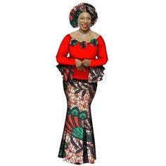 2018 Autumn African Skirt Set For Women Dashiki 2 Piece Sets African Clothes Elegant Traditional African Clothing - 27 / Xl African Fashion Designers, African Men Fashion, Africa Fashion, African Fashion Dresses, African Women, Fashion Outfits, Womens Fashion, Ankara Fashion, Fashion Ideas