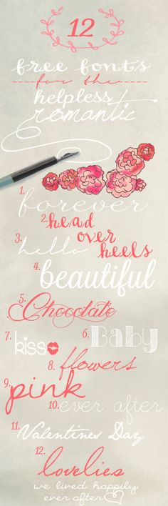 free lovely fonts