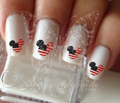 4th of July Disney Mickey Mouse Nail Art Nail Water Decals