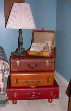 I saw this when I was searching google images for vintage luggage and thought it was a great idea!