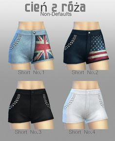 Forever Sims: Mixup Shorts - Sims 4 Downloads