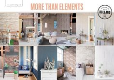Behang / Wallpaper collection More Than Elements - BN Wallcoverings