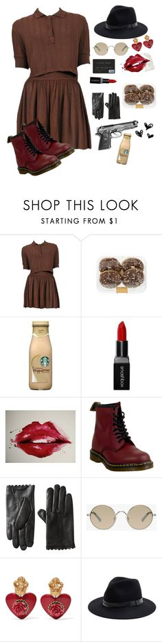 """I'm sorry, but I'm your gangster."" by varvaramuras on Polyvore featuring мода, Alaïa, Smashbox, Dr. Martens, Tura, Dolce&Gabbana и Sole Society"