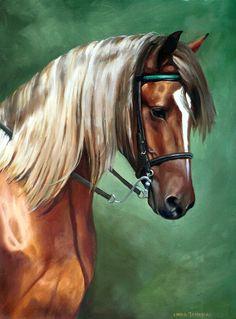 Rocky Mountain Horse Canvas Print / Canvas Art by Linda Tenukas