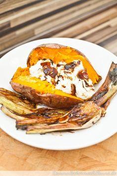 Süßkartoffeln mit karamellisiertem Fenchel