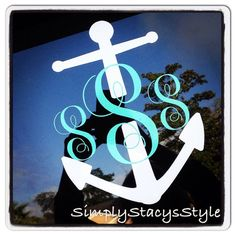 6 inch Anchor Monogram Decal by SimplyStacysStyle on Etsy, $10.00