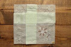 Flower embroidered Girl Wedding Hankie Handkerchief Keepsake Vintage Stock Monogrammed Lace Wedding Bridal Gift Personalized by Yebisu on Etsy