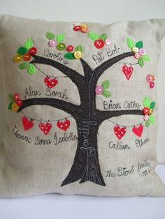 Family tree cushion £45.00                                                                                                                                                                                 Más