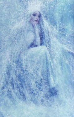Birmingham, Illustration for 'The Snow Queen' by Hans Christian Andersen Snow Queen, Ice Queen, Art And Illustration, Fairy Land, Fairy Tales, Fantasy World, Fantasy Art, Fantasy Makeup, Art Magique