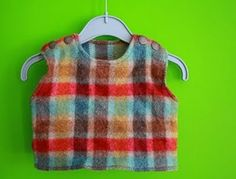 Free pattern infant vest with shoulder snaps (Size 2-4 months)