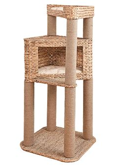 30fbe8b37c22 'Malbona Living Scratching Post with Tri Organic Natural Materials Water  Hyacinth and Seagrass Cave &