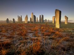 Callanish Stone Circle at Dawn, Isle of Lewis, Outer Hebrides, Scotland (photo by Patrick Dieudonne).  Neolithic stone circles are definitely on my bucket list. I can almost feel the hum... fellow Diana Gabaldon fans will understand, I'm sure. ;)
