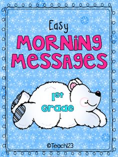 Differentiated morning messages with a January theme that are on the first grade reading level.  $