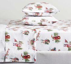 Nostalgic Santa Organic Cotton Pillowcases - Set of 2 Organic Cotton Sheets, Cotton Sheet Sets, Christmas Sheets, Christmas 2019, Pottery Barn Christmas, Velvet Bed, Percale Sheets, Custom Rugs, How To Make Bed