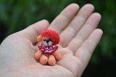 A thread artist bear - miniature teddy bear - stuffed bear