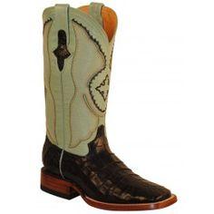 Ferrini Ladies Black/Mint Belly Caiman Crocodile Boots S-Toe 82493-04