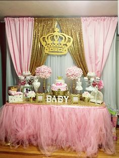 43 trendy baby shower ides for boys games pink and gold Girl Birthday Themes, Baby Girl Shower Themes, Girl Baby Shower Decorations, Baby Shower Princess, Baby Princess, Baby Shower Centerpieces, Baby Boy Shower, Baby Shower Gifts, Baby Girl Babyshower Themes