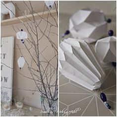 DIY: Origami/Plissee-Anhänger it's time for a DIY again or what do you think? Diy Origami, Origami Design, Origami Tutorial, Origami Paper, Oragami, Tin Foil Meals, Diy And Crafts, Paper Crafts, Diy Papier