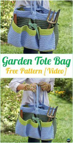 Crochet Garden Tote Bag Free Pattern [Video] - Crochet Handbag Free Patterns Instructions