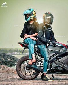 Indian Wedding Photography Poses, Bike Photography, Photography Poses For Men, Biker Love, Biker Girl, Biker Couple, Alone Art, Blur Background Photography, Bike Photoshoot