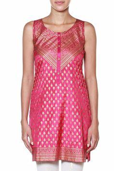 Sleeveless Evening Wear Tunic - Buy Sleeveless Evening Wear Tunic - IM19099-TU-243 - TUNIC for Women - Global Desi by Anita Dongre | Anitadongre.com
